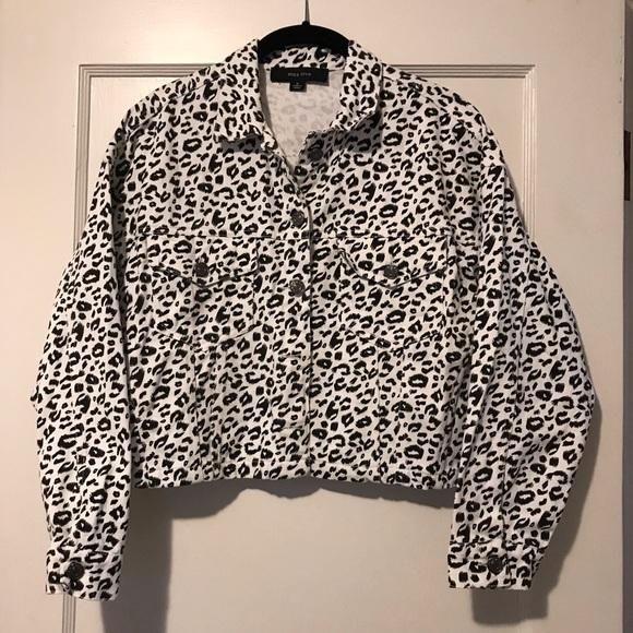 Miss Love Jackets & Blazers - Adorable White Leopard Print Jacket